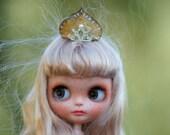 Blythe Gold Silver Tiara Crown OOAK Blythe Outfit Hat Blythe Glamour Sparkle Blythe dress Gold Crown Princess Blythe