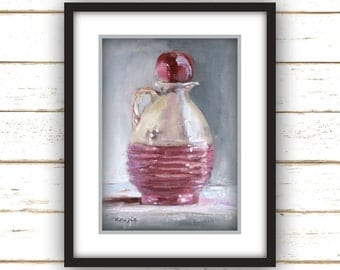 Little Pink Jug - Painting Print
