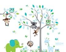 Jungle Decals, Jungle Wall Decals, Jungle Stickers, Jungle Animal Decals,