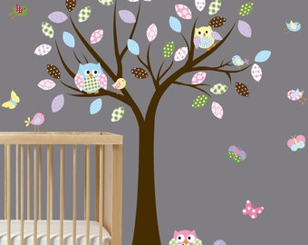 Vinyl Wall Decal Tree Nursery Tree Decal