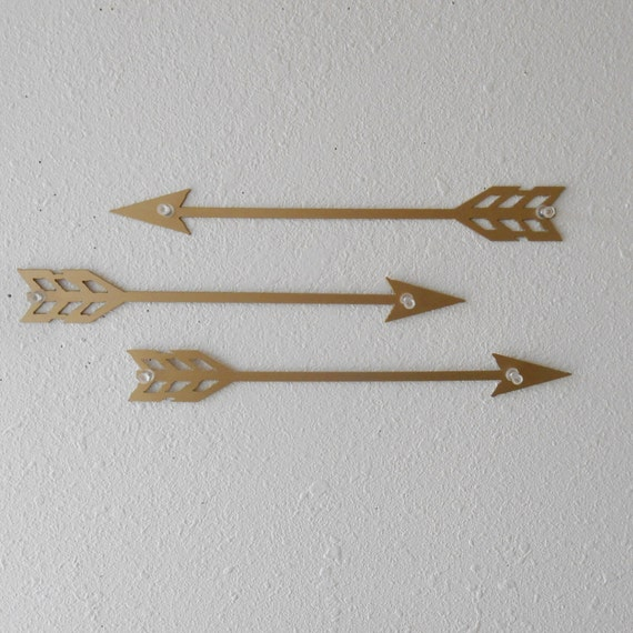 Arrows For Wall Decor : Arrows gold metal art wall decor set of by