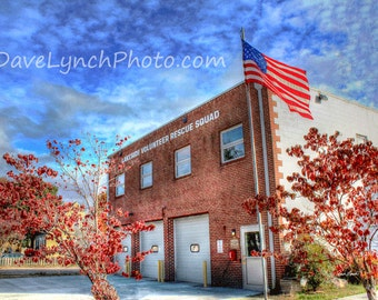 Lakeside Volunteer Rescue Squad - Henrico VA -  Art Photography Print by Dave Lynch - Free Shipping on additional purchase