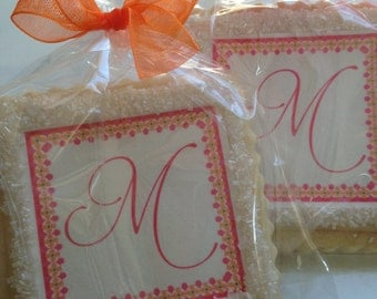 custom cookie favor monogram birthday favor wedding shower