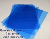 Blank STENCIL Material 12x12 inch 5 sheets