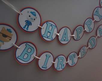 Octonauts Birthday Banner - MADE TO ORDER