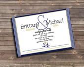 nautical themed custom printable engagement party invitation