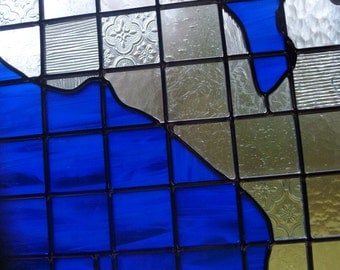 Stained Glass Map of Seattle - Suncatcher Window