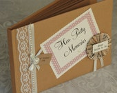 Hen Party Memory Scrapbook - kraft and pink