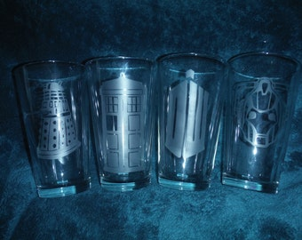 Set of Doctor Who Glasses