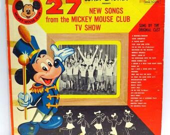Mickey Mouse Club #2 Album Cover Purse Custom Made Vintage Record Purse Walt Disney LP Album Handbag Tote