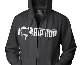 I Heart hip hop hoodie. zipper or non zipper - On Sale