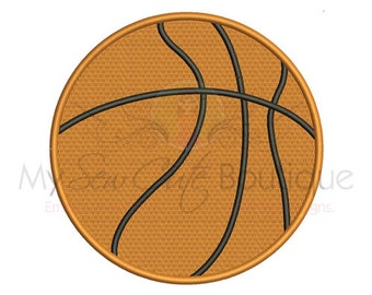 Basketball Embroidery Design - Basketball Embroidery - 3 Sizes - Instant Download