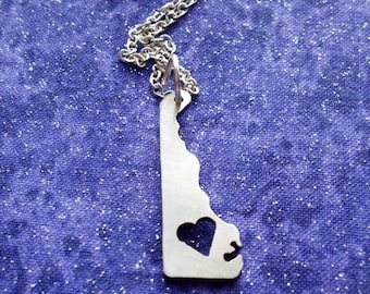 I Heart Delaware - Necklace Pendant or Keychain