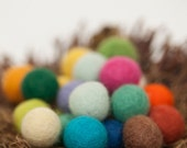 Felt balls, 20 mm Multicolor Mix