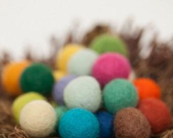 Felt balls, 20 mm Multicolor Mix