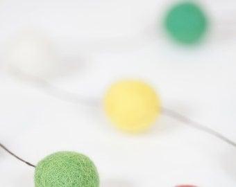 Pick your favorite colors for felt ball garland home decor 15-18mm small felt balls