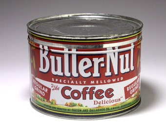 Vintage Butter-Nut Coffee Can - Circa 1950's