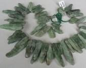 Green Kyanite Stick Beads