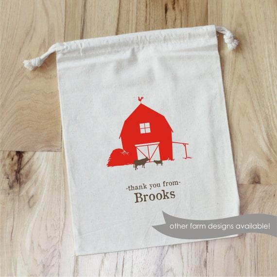 FARM - Personalized Favor Bags - Set of 10