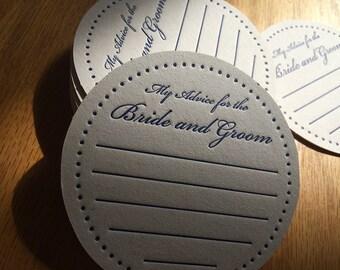 Wedding Reception Drink Coasters (set of 100)