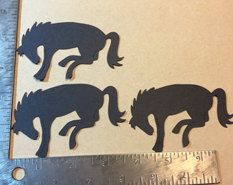3 Bronco Horse Die Cuts - pick your color