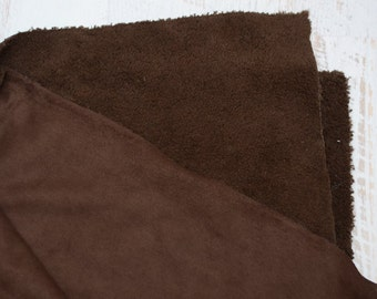 CLEARANCE! Chocolate Fleece Fabric by the foot
