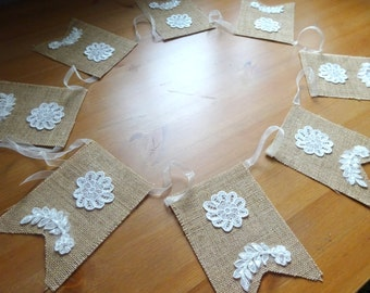 Lace Banner,Lace Custom Banner,Unique Wedding Garland, Banner