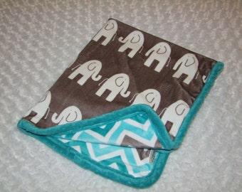 Elephant Minky Blanket- Ships in 1-3 Days