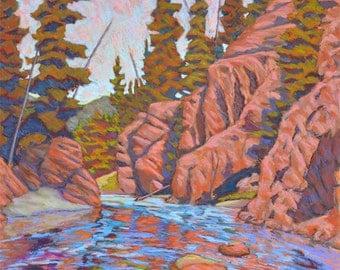 "Pastel Landscape ""Day on the St. Joe"" Limited Print"