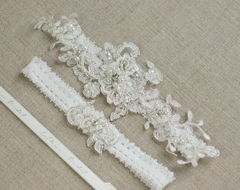 Bride garter, Bridal garter set, Wedding Garter, Wedding garter set,  Lace garter set, Lace garter, wedding accessories