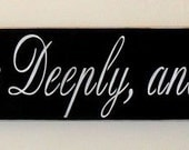 Live Simple, Love Deeply, and Have No Regrets Inspirational Quote Sign LARGE Sign 6 x 48