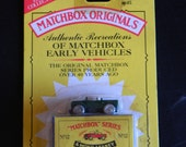 Rare 1993 Matchbox Lesney Land Rover Early Vehicles, MOC with box, No 12, 11971 die cast jeep range rover vintage toy car metal wheels