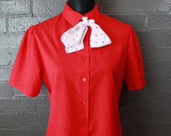 Vintage Red Blouse by Shapely