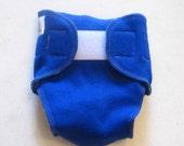 Wool diaper cover soaker wrap - royal blue - newborn fits 6-12 lbs. - CYA - for  tigerlilysunshine