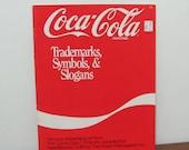 Vintage Coca Cola Trademarks Symbols & Slogans Charted Needlework Patterns Booklet