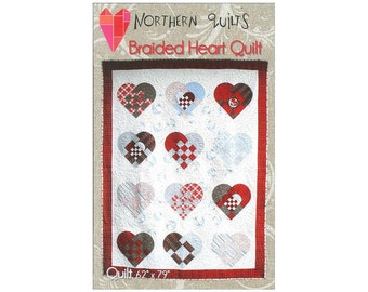 Northern Quilts Braided Heart Quilt Pattern Sewing Quilting Scandinavian Hearts Paper Patterns