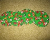 Quilted Set of 4 Christmas Holiday Coasters