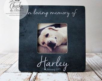 In Loving Memory Of Pet Picture Frame, Personalized Pet Picture Frame, Pet Memorial Frame
