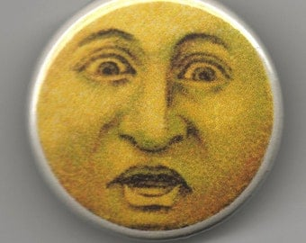 Surprised Sun Face 1.25 inch Button