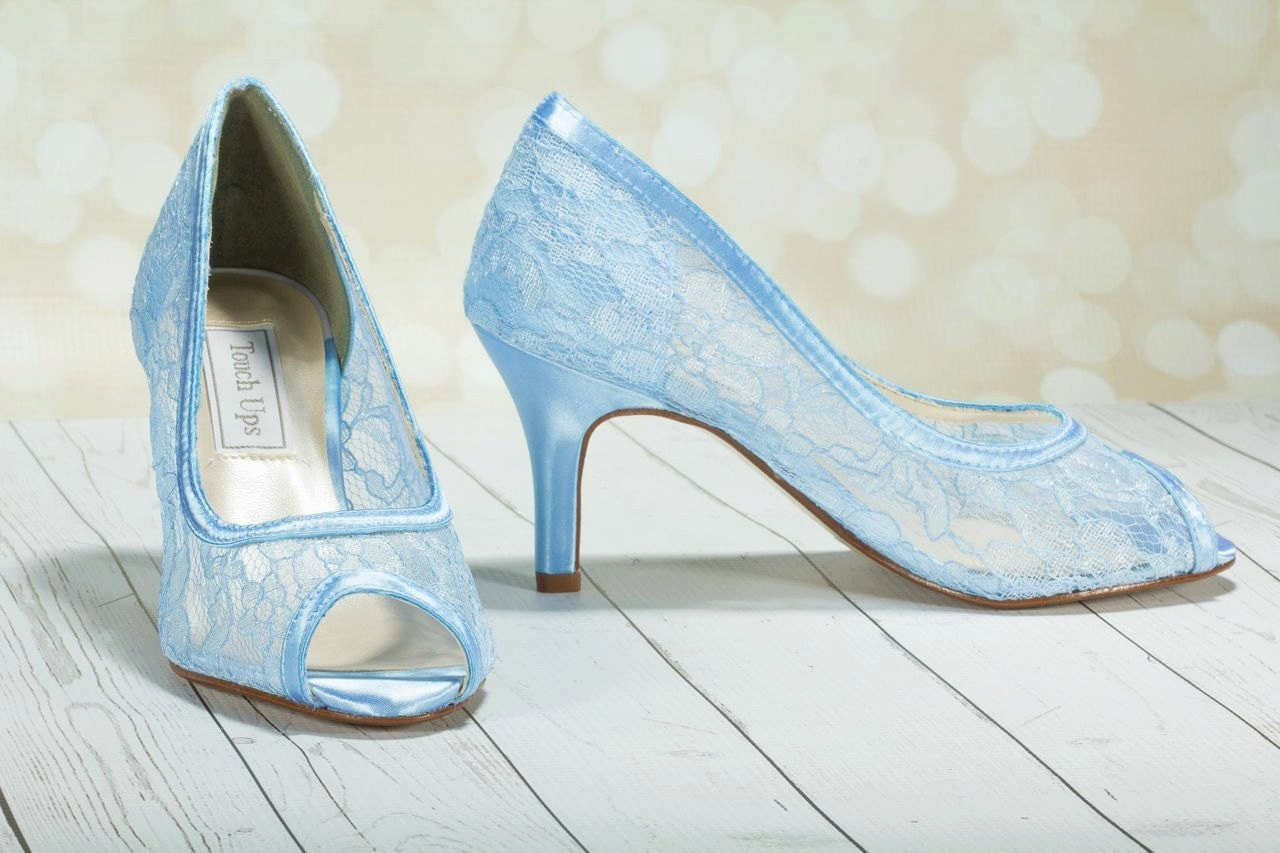 Wedding Shoes Lace Lace Heels Dyeable Choose From Over