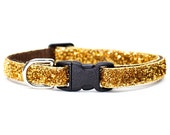 "Cat Collar - ""The Lola"" - Gold Sparkle"