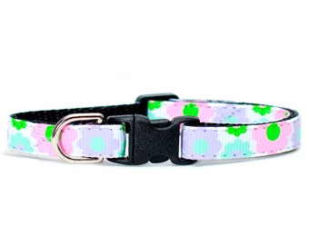 """Cat Collar - """"The Real Housewife"""" - Floral Print"""