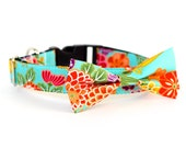 New Colors! 4 colors to choose from, Japanese Kimono collection, UsagiTeam designer dog collars with bowties, bowties, collars and leashes!
