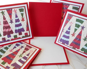 Christmas Miniature Note Cards:  Handmade Blank / 5 Pack Set - Christmas Day