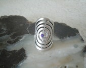 Celtic Spiral Ring, wiccan jewelry pagan jewelry wicca jewelry celtic jewelry goddess witch witchcraft druid metaphysical magic wiccan ring