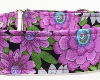 Floral Adjustable Dog Collar Martingale Dog Collar - Made to Order -