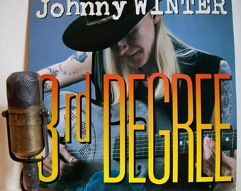 "ON SALE Johnny Winter Vintage Vinyl LP Record Album 1980s Blues Rock Guitar Boogie with guest Dr. John ""3rd Degree""(1986 Alligator w/""Mojo B"