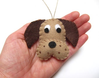 Personalized Dog Christmas Ornament, Puppy Dog Ornament, Felt Christmas Ornament, Felt Dog Ornament Personalized