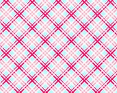 "Pam Kitty Garden - ""Aqua Picnic Plaid"""