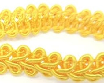 5 meters Yellow lace , 10mm